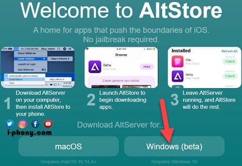 تحميل متجر AltStore للآيفون من الموقع الرسمي