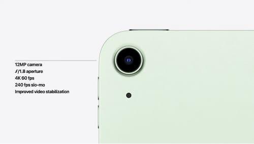 الكاميرا الخلفية في iPad Air 4
