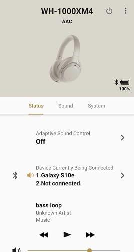 تطبيق سماعات سوني اللاسلكية