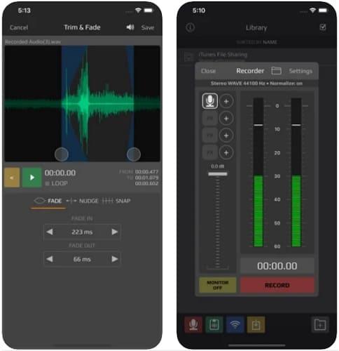 لقطات شاشة من برنامج تسجيل الصوت للايفون AudioShare