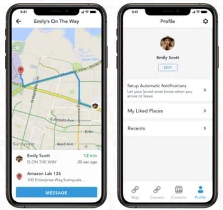 لقطات شاشة من تطبيق الخرائط Scout GPS للايفون