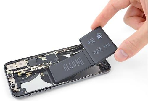 شكل البطارية في هاتف iPhone X