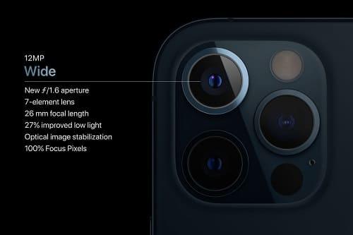 كاميرا جديدة في آيفون 12 برو