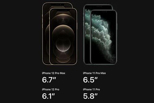 الشاشة الكبيرة في هاتف آيفون 12 برو