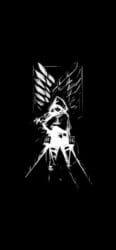خلفية مقاتل هجوم العمالقة للايفون