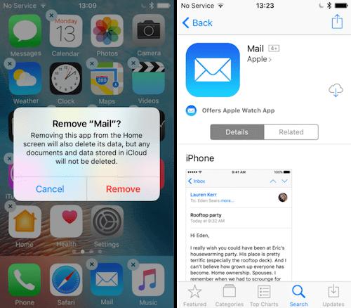 حذف و إعادة تحميلت تطبيق البريد: حل مشكلة اختفاء التطبيقات بعد الترقية لإصدار iOS 11