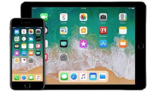 جهاز الايفون و الايباد على إصدار iOS 11