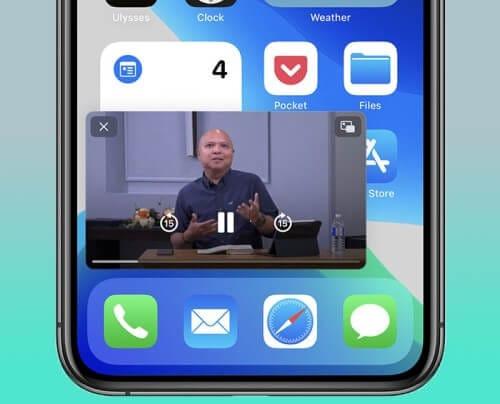 مشكلة في نظام التشغيل iOS 14 picture in picture