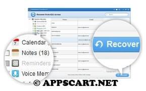 أداة Dr.Fone - Data Recovery (iPhone Data Recovery)