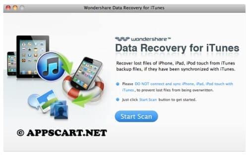 أداة Data Recovery for iTunes