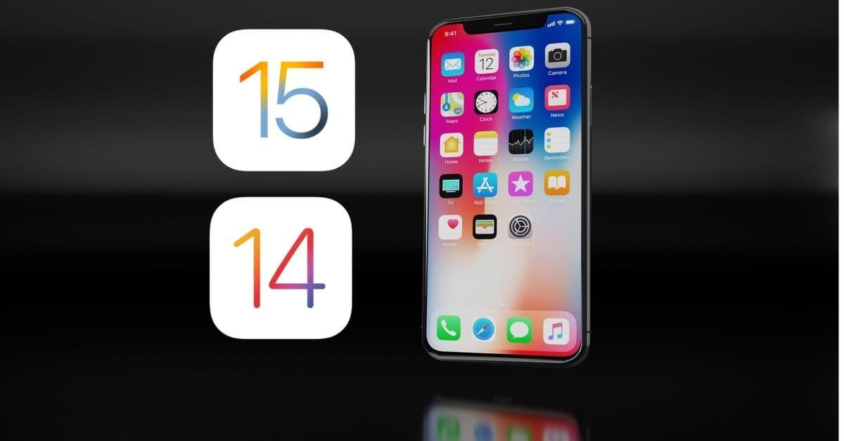 تخفيض نظام التشغيل من iOS 15 إلى iOS 14